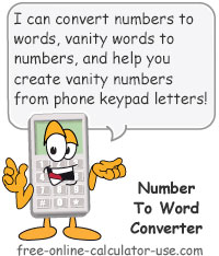 number to word converter sign