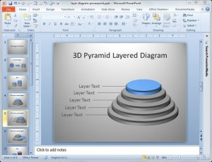 Making a Layer Diagram in PowerPoint 2010