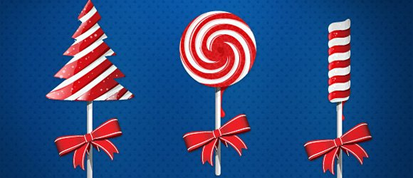 Free Christmas Candy PSD Templates