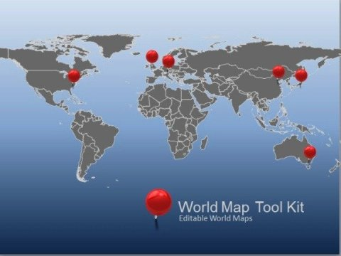 Animated World Map Toolkit For PowerPoint world map tool kit