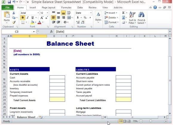 Balance Sheet Template   FREE DOWNLOAD  Balance Sheet Format Download