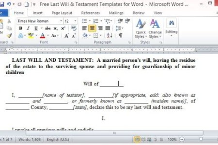 Free Thank You Letter Microsoft Word Templates Thank You Letter - Free last will and testament template microsoft word