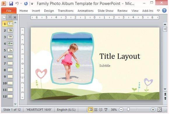 photo album template powerpoint
