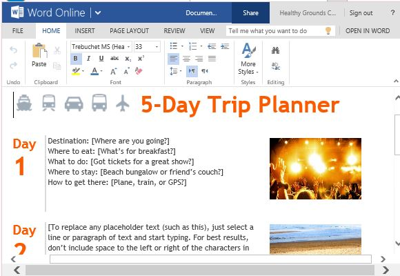 Family vacation planner template free download toneelgroepblik Choice Image