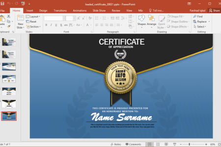 Animated Certificate PowerPoint Template You can download this animated certificate template for PowerPoint and  Keynote  The Keynote version is only available for the Standard edition