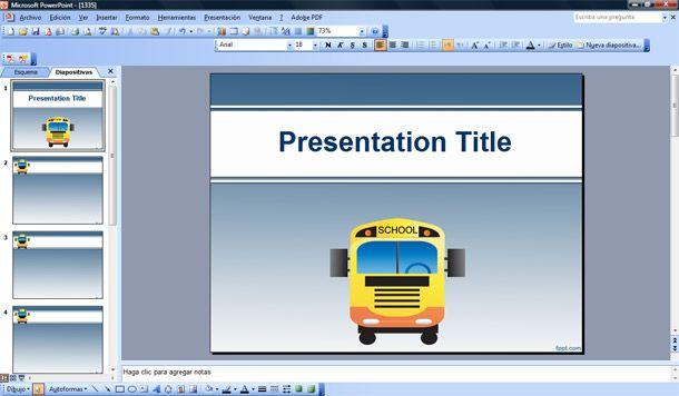 Powerpoint Templates Microsoft Bus