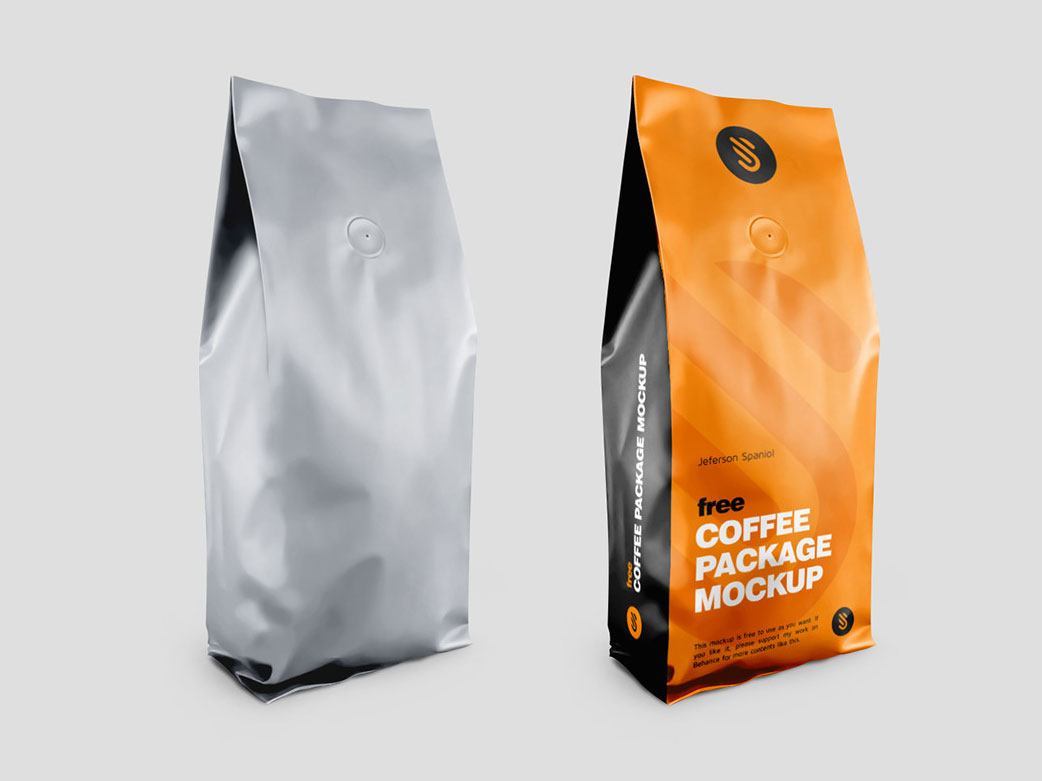 Download Free Coffee Package Mockup - Free PSD Mockups