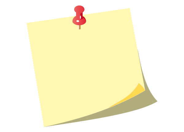 Yellow Post It Notes With Push Pin Vector Download Free