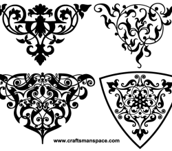 Decorative Ornamental Vignettes Vector