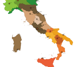 Free Italy Map Vector