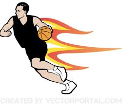Vector Basketball Player Image