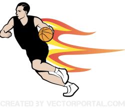 Vector Basketball Player Image