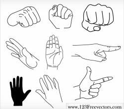 Free Vector Hands