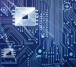 Vector Abstract Circuit Board Background Design