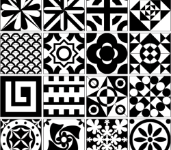 Tile Design Patterns Vector Resource