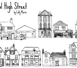 Free Hand Drawn High Street Shops Vector Art