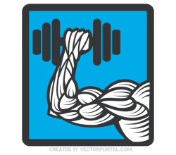Vector Weightlifting Icon