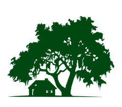 Oak Tree with Cabin Vector