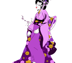 Vector Japanese Geisha Girl Image