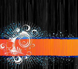 Background Design with Ornament Vector Free