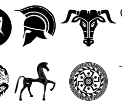 Old Ancient Greek Designs Vector Pack