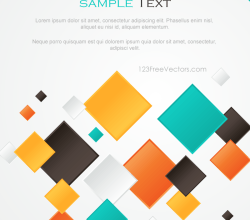 Multicolor Abstract Square Background Design