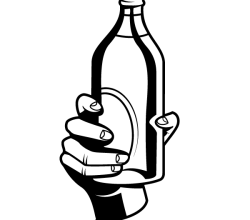Hand Holding a Bottle Vector