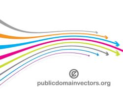 Vector Colorful Wavy Arrows