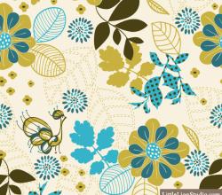 Peacock Vanity – Vector Seamless Floral Pattern