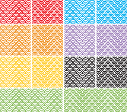 Dragon Scales Seamless Pattern Adobe Illustrator Swatches