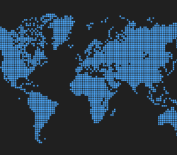 Vector Dots World Map