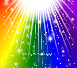 Abstract Colorful Rainbow Vector Image