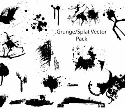 Grunge And Splatter Vector Pack