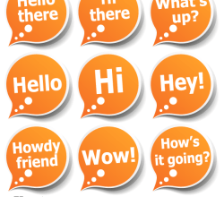 Speech Bubble Stickers with Greeting Messages Vector Pack