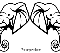 Elephant Head Vector Art