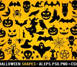 Free Halloween Shapes
