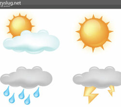 Free Weather Icons Vector
