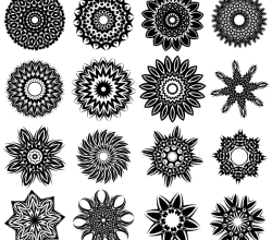 Vector Tribal Flower Tattoo Designs