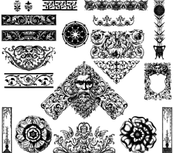Victorian Ornaments Free Illustrator Vector Pack