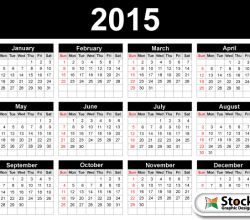 2015 Calendar Template Vector Free