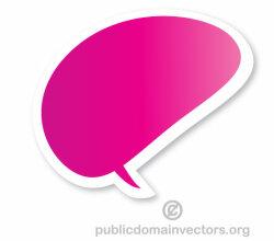 Vector Speech Bubble Sticker