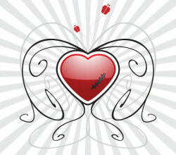 Heart Vector Background