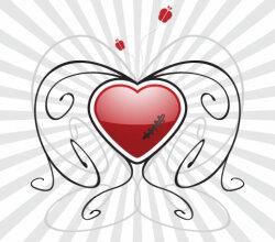 Heart Vector Background