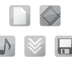 Free Vector Glossy Web Icons