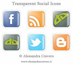 Vector Transparent Social Media Icons