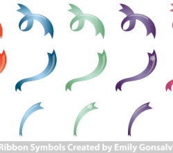 Ribbon Symbols Vector