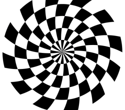 Spiral Optical Illusion Vector