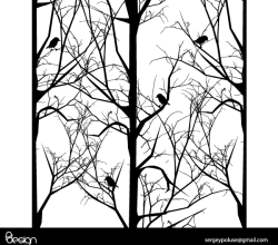 Vector Tree with Birds