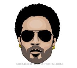 Lenny Kravitz Vector Image
