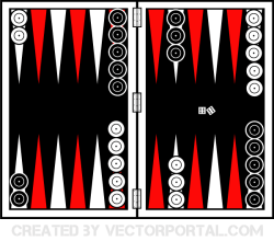 Backgammon Board Vector